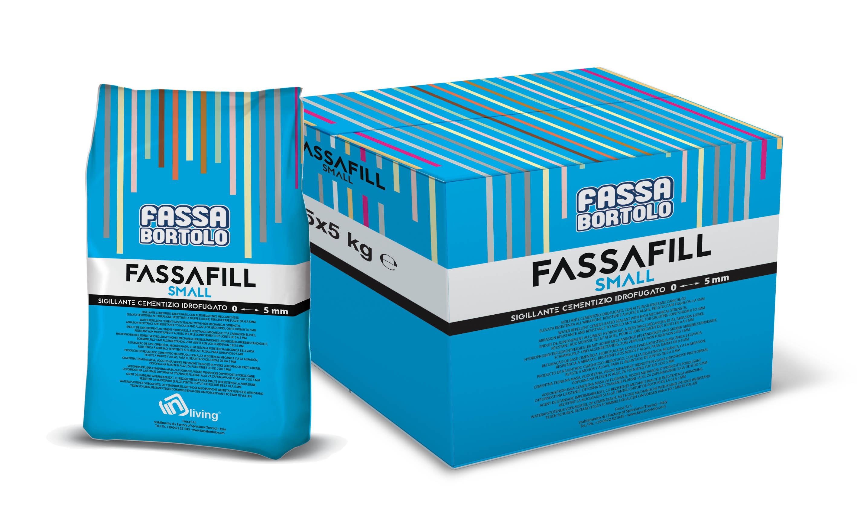 FASSAFILL SMALL: Mortier de jointoiement à base de ciment, hydrofugé, avec de hautes résistances mécaniques et une résistance à l'abrasion élevée, résistant aux moisissures et aux algues, pour réaliser des joints de 0 à 5 mm