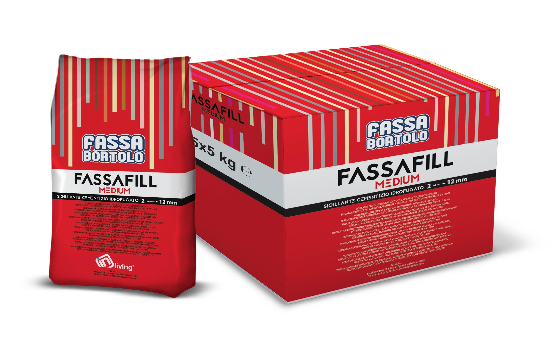 FASSAFILL MEDIUM: Mortier de jointoiement à base de ciment, hydrofugé, avec de hautes résistances mécaniques et une résistance à l'abrasion élevée, résistant aux moisissures et aux algues, pour réaliser des joints de 2 à 12 mm