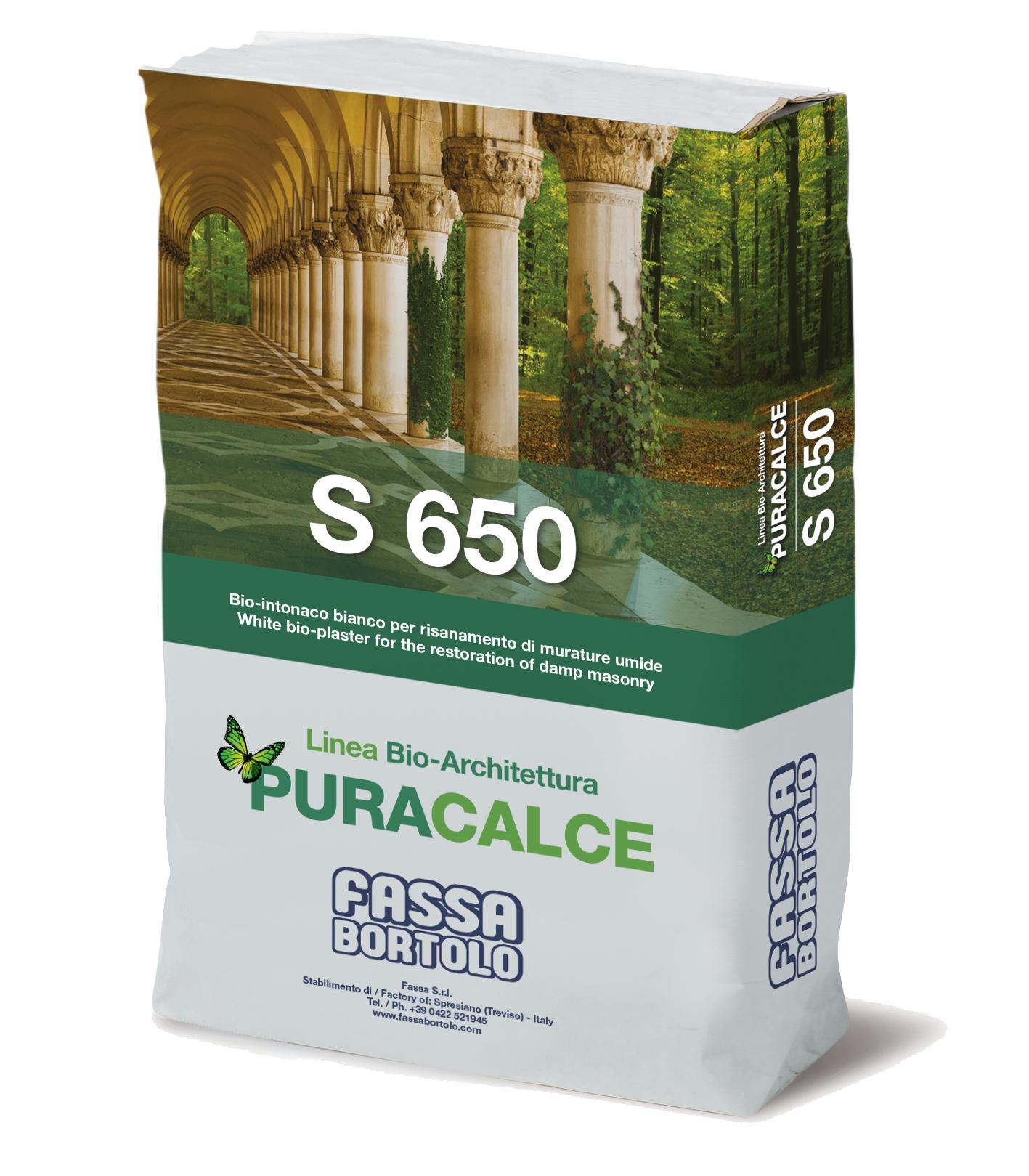 S 650: Gobetis d'accrochage naturel blanc pour l'assainissement des maçonneries humides, pour l'intérieur et l'extérieur