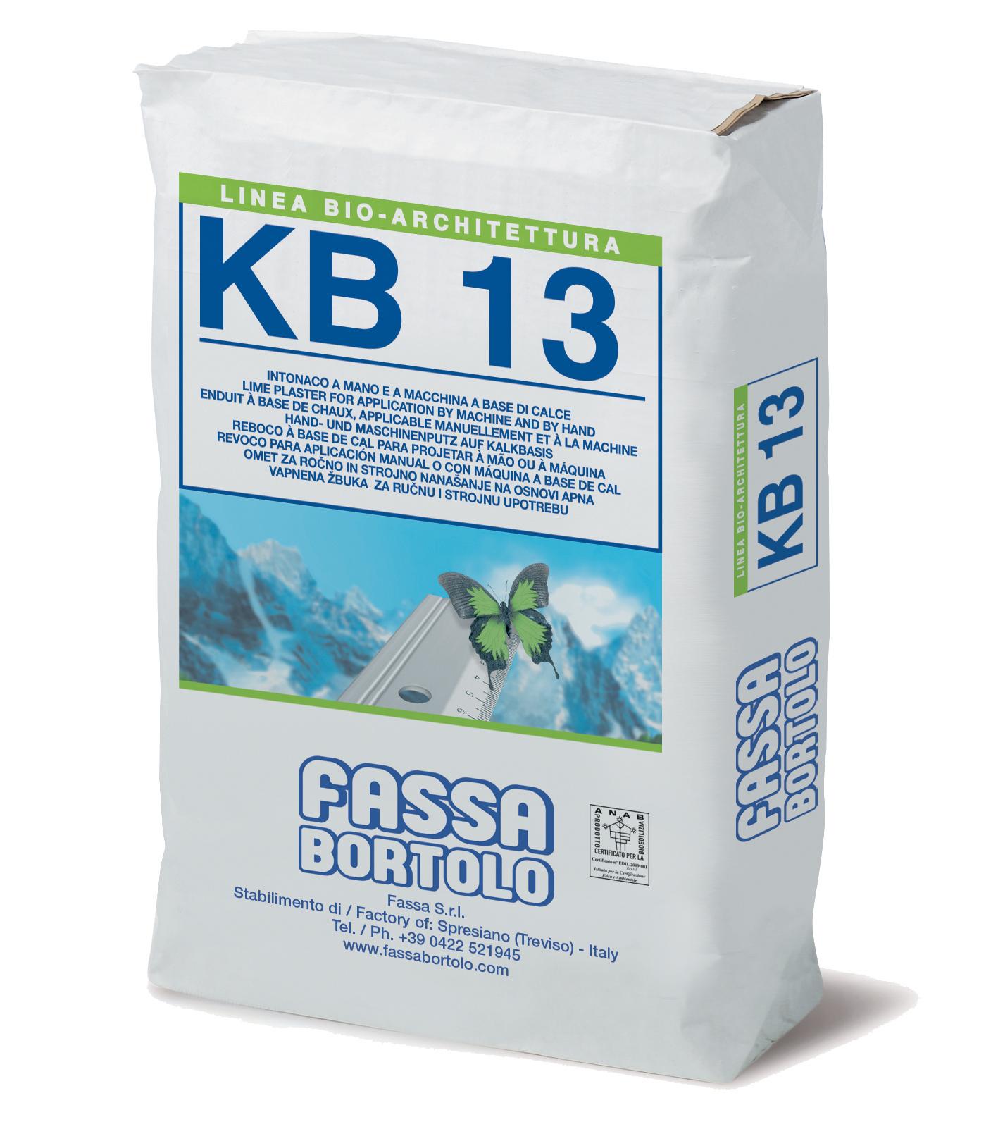KB 13: Enduit de fond naturel à base de chaux, à effet marbré, pour l'intérieur et l'extérieur