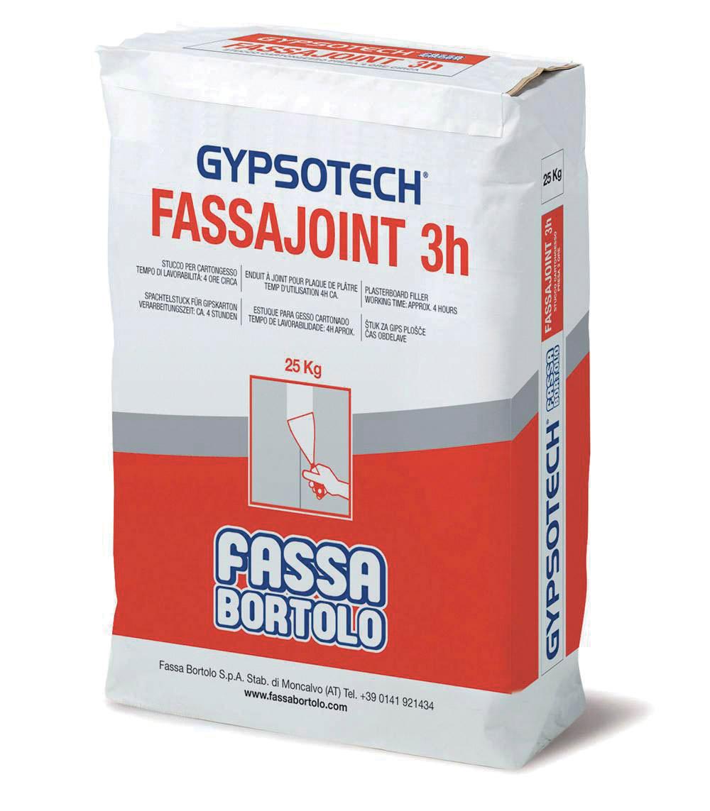 FASSAJOINT 3H: Enduit à joint pour plaques de plâtre
